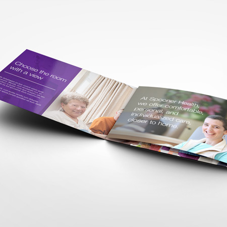 Direct mail image of first fold